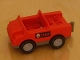 Part No: 2218c04pb01  Name: Duplo Car with 2 x 2 Studs and Dark Gray Base and Fire Pattern