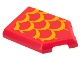 Part No: 22385pb214  Name: Tile, Modified 2 x 3 Pentagonal with Bright Light Orange Scales Pattern (Sticker) - Set 75550