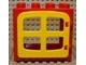 Part No: 2332c02  Name: Duplo Door / Window Frame 2 x 4 x 3 Raised Door Outline with Yellow Duplo Door / Window with 4 Panes (2332 / 4809)