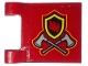 Part No: 2335pb203  Name: Flag 2 x 2 Square with Fire Badge and Axes Pattern on Both Sides (Stickers) - Set 10263