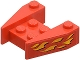 Part No: 2399pb05  Name: Wedge 3 x 4 without Stud Notches with Flames Pattern on Both Sides (Stickers) - Set 6589