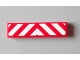 Part No: 2431pb274  Name: Tile 1 x 4 with Red and White Chevron Danger Stripes Thick, White in Middle Pattern (Sticker) - Set 60004