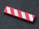 Part No: 2431pb364R  Name: Tile 1 x 4 with Red and White Danger Stripes Thick Pattern Model Right Side (Sticker) - Set 7747
