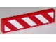 Part No: 2431pb405L  Name: Tile 1 x 4 with Red and White Danger Stripes Thick (White Corners) Pattern Left (Sticker)