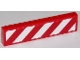 Part No: 2431pb405R  Name: Tile 1 x 4 with Red and White Danger Stripes Thick (White Corners) Pattern Right (Sticker)