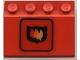 Part No: 2513pb06  Name: Vehicle, Mudguard 3 x 4 Slope with Fire Logo Badge Large Pattern (Sticker) - Set 6571