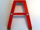 Part No: 2635pb01  Name: Support Crane Stand Double with '10m' Clearance and Black and Yellow Danger Stripes Pattern (Stickers) – Set 6542