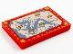 Part No: 26603pb144  Name: Tile 2 x 3 with Kumandra Map Pattern