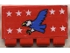 Part No: 2873pb03  Name: Hinge Train Gate 2 x 4 with White Stars and Blue Eagle Pattern (Sticker) - Set 6345