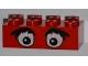 Part No: 3001pb011  Name: Brick 2 x 4 with Eyes and Bushy Eyebrows Pattern