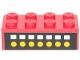 Part No: 3001pb030  Name: Brick 2 x 4 with 7 White Squares, 7 Yellow Dots on Black Pattern (Sticker) - Set 6382
