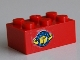 Part No: 3002pb15  Name: Brick 2 x 3 with Box and Arrows and Globe Pattern on Both Sides (Stickers) - Set 6542