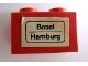 Part No: 3004pb065  Name: Brick 1 x 2 with 'Basel - Hamburg' Pattern (Sticker) - Set 164