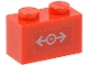 Part No: 3004pb088  Name: Brick 1 x 2 with Train Logo Gray Small Pattern (Sticker) - Set 7897