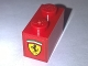 Part No: 3004pb163  Name: Brick 1 x 2 with Ferrari Logo Black Horse on Yellow Background Pattern on End (Sticker) - Set 10248