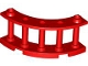 Part No: 30056  Name: Fence 4 x 4 x 2 Quarter Round Spindled with 2 Studs