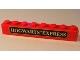 Part No: 3008pb044b  Name: Brick 1 x 8 with Black Hogwarts TM Express Pattern (Sticker) - Sets 4758 / 10132
