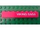 Part No: 3008pb096R  Name: Brick 1 x 8 with White 'VIKING SAGA' Pattern Right (Sticker) - Set 1655