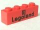 Part No: 3010p30  Name: Brick 1 x 4 with Black Legoland Logo Pattern