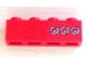 Part No: 3010pb137  Name: Brick 1 x 4 with 3 Taillights Pattern Model Right (Sticker) - Set 8486