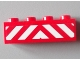 Part No: 3010pb163  Name: Brick 1 x 4 with Red and White Danger Stripes Pattern (Sticker) - Set 60004