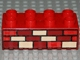 Part No: 3011pb035  Name: Duplo, Brick 2 x 4 with Red, Dark Red and Tan Bricks Pattern