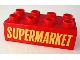Part No: 3011px7  Name: Duplo, Brick 2 x 4 with 'SUPERMARKET' Text Pattern