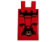 Part No: 30350bpb084  Name: Tile, Modified 2 x 3 with 2 Clips with Draped Flag and Ninjago Oni Mask Face Pattern (Sticker)