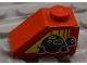 Part No: 3040pb013L  Name: Slope 45 2 x 1 with Black Turtle on Left Side Pattern (Sticker) - Set 8858-1