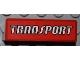 Part No: 30413pb025  Name: Panel 1 x 4 x 1 with White 'TRANSPORT' Pattern (Sticker) - Set 4645
