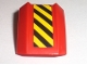 Part No: 30602pb036L  Name: Slope, Curved 2 x 2 Lip with Black and Yellow Danger Stripes Pattern Left (Sticker) - Set 7733