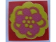Part No: 3068apb07  Name: Tile 2 x 2 without Groove with Flower Pink and Yellow Pattern (Sticker) - Set 293