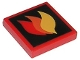 Part No: 3068bpb0074  Name: Tile 2 x 2 with Groove with Classic Fire Logo Large Pattern