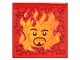 Part No: 3068bpb0422  Name: Tile 2 x 2 with Groove with Sirius Black's Face in Flames Pattern (Sticker) - Set 4842
