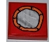 Part No: 3068bpb0461  Name: Tile 2 x 2 with Groove with Mirror Round with Orange Frame Pattern (Sticker) - Set 3834