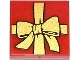 Part No: 3068bpb0786  Name: Tile 2 x 2 with Groove with Present / Gift with Gold Bow Pattern