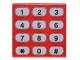 Part No: 3068bpb1030  Name: Tile 2 x 2 with Groove with Phone Keypad with Tan Buttons and Black Numbers Pattern