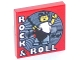 Part No: 3068bpb1136  Name: Tile 2 x 2 with Groove with 'Rock & Roll' Pattern