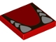 Part No: 3068bpb1437  Name: Tile 2 x 2 with Groove with White Teeth and Tongue Pattern