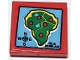 Part No: 3068bpb1491  Name: Tile 2 x 2 with Groove with Isla Nebular on Red Background Pattern (Sticker) - Set 75934