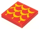 Part No: 3068bpb1674  Name: Tile 2 x 2 with Groove with Bright Light Orange Scales Pattern (Sticker) - Set 75550