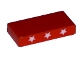 Part No: 3069bpb0050  Name: Tile 1 x 2 with Groove with Three Stars Pattern on both edges (Stickers) - Set 5591