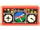 Part No: 3069bpb0054  Name: Tile 1 x 2 with Groove with Avionics Blue and Green Pattern (Sticker) - Sets 8429 / 8812