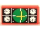Part No: 3069bpb0055  Name: Tile 1 x 2 with Groove with Avionics Green Pattern (Sticker) - Sets 8429 / 8812