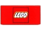Part No: 3069bpx42  Name: Tile 1 x 2 with Lego Logo in Red Square Pattern