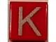 Part No: 3070bpb019  Name: Tile 1 x 1 with Groove with Letter Capital K Pattern