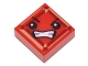 Part No: 3070bpb110  Name: Tile 1 x 1 with Groove with Face with Angry Eyes and Bared Teeth (Kryptomite) Pattern