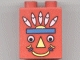 Part No: 31110pb006  Name: Duplo, Brick 2 x 2 x 2 with Indian Totem Pole Pattern