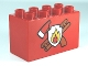 Part No: 31111pb022  Name: Duplo, Brick 2 x 4 x 2 with Fire Department Pattern