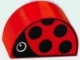 Part No: 31213pb009  Name: Duplo, Brick 2 x 4 x 2 Curved Top with Ladybug Pattern